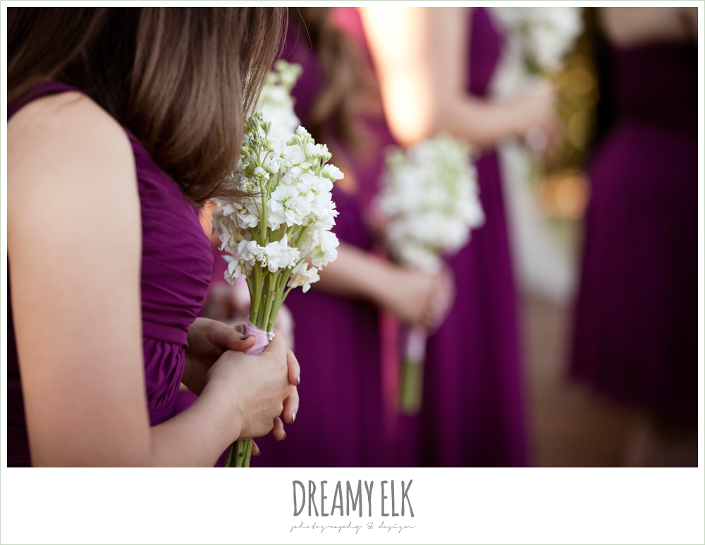 raspberry bridesmaids dresses, david's bridal, october wedding, inn at quarry ridge, dreamy elk photography and design