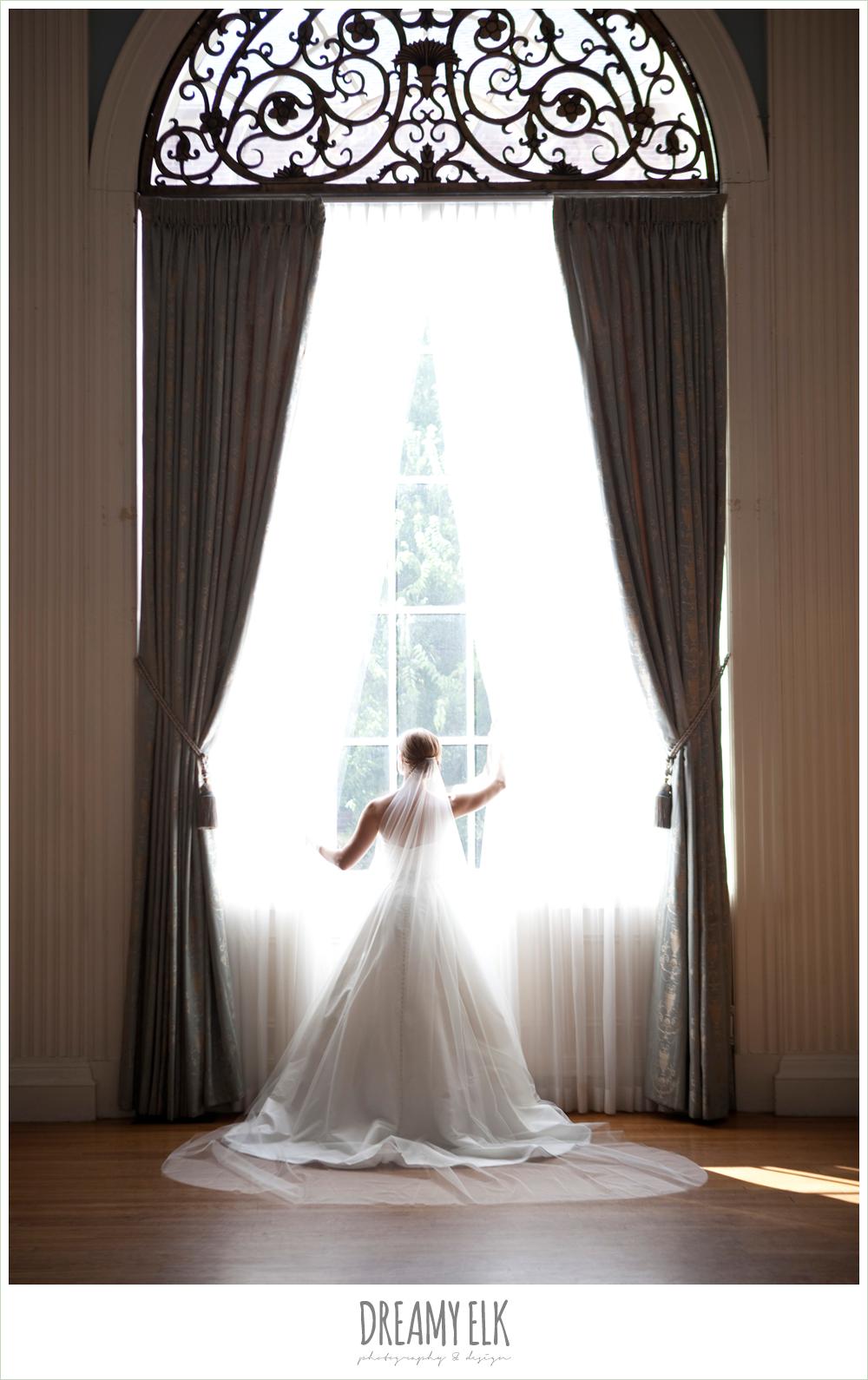 bride standing in window, indoor bridal photo, dreamy elk photography and design