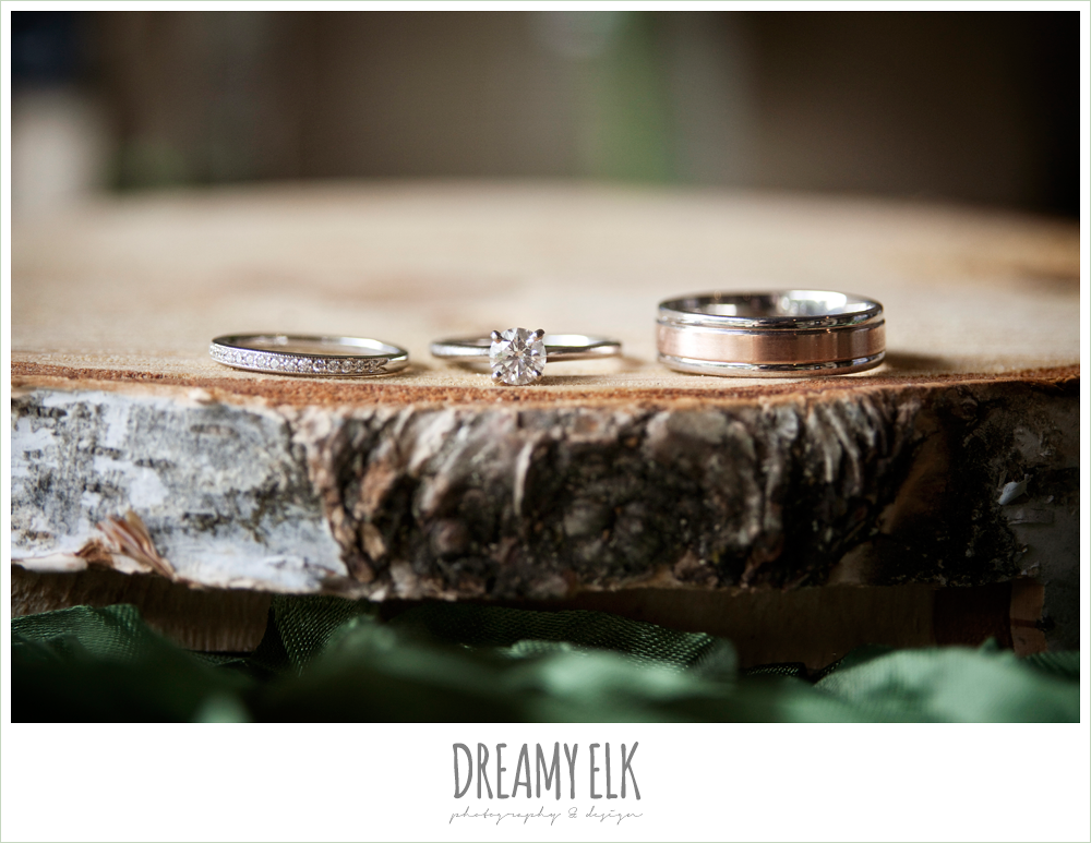 wedding rings, winter vineyard wedding, dreamy elk photography and design
