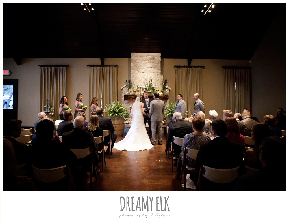 indoor wedding ceremony, winter vineyard wedding, dreamy elk photography and design
