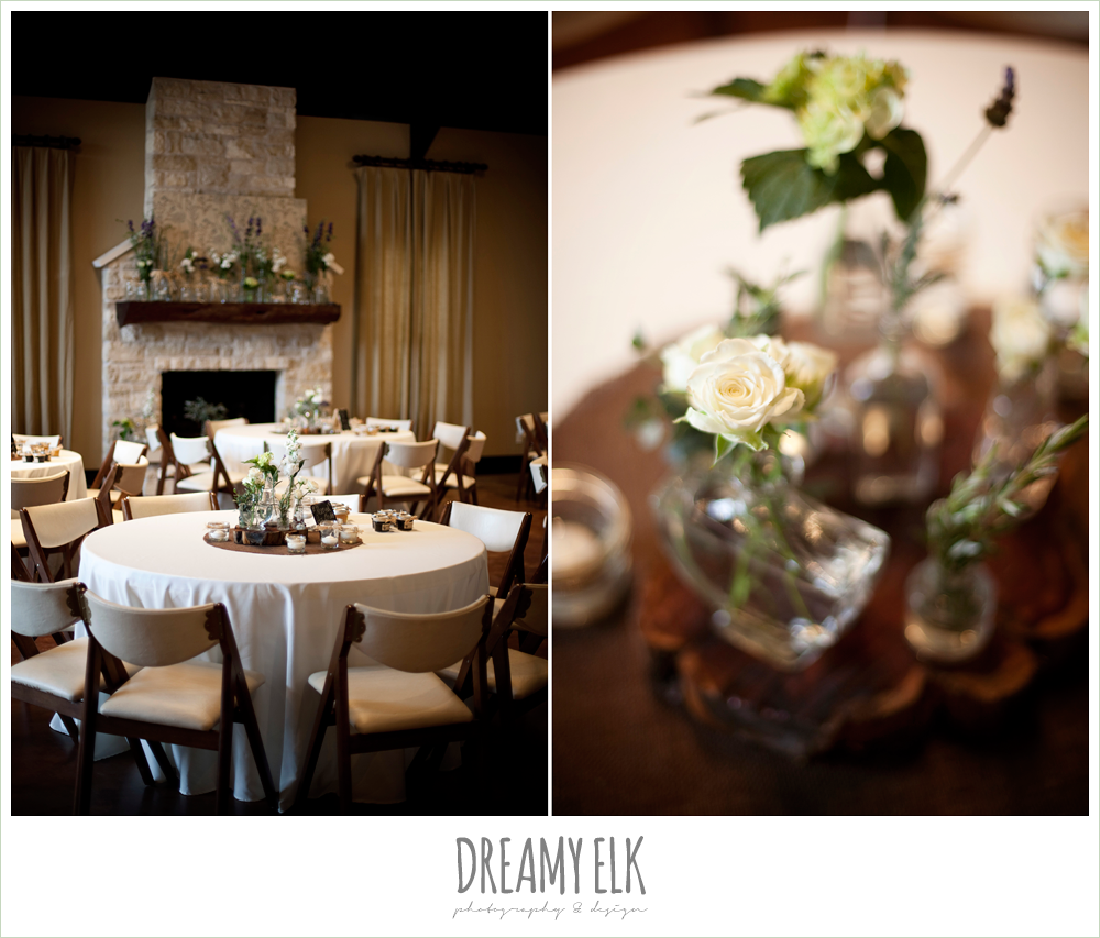 indoor reception table decor, winter vineyard wedding, dreamy elk photography and design