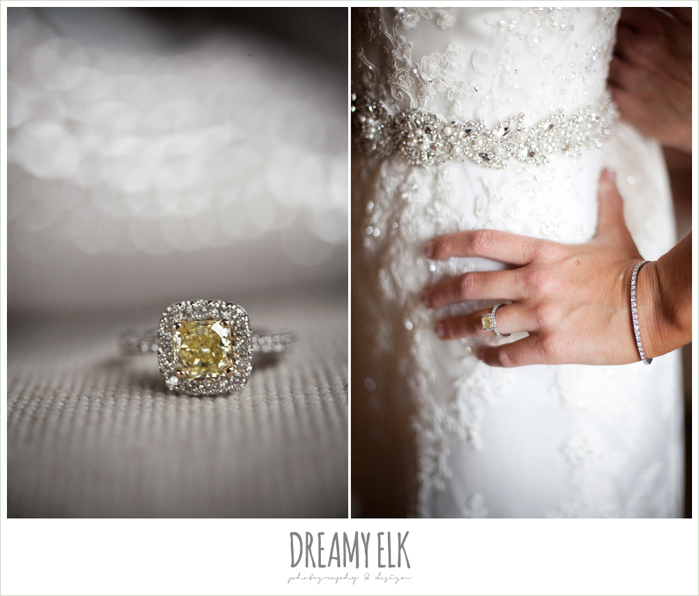 yellow diamond engagement ring, lace wedding dress, fall wedding, rock lake ranch, dreamy elk photography and design