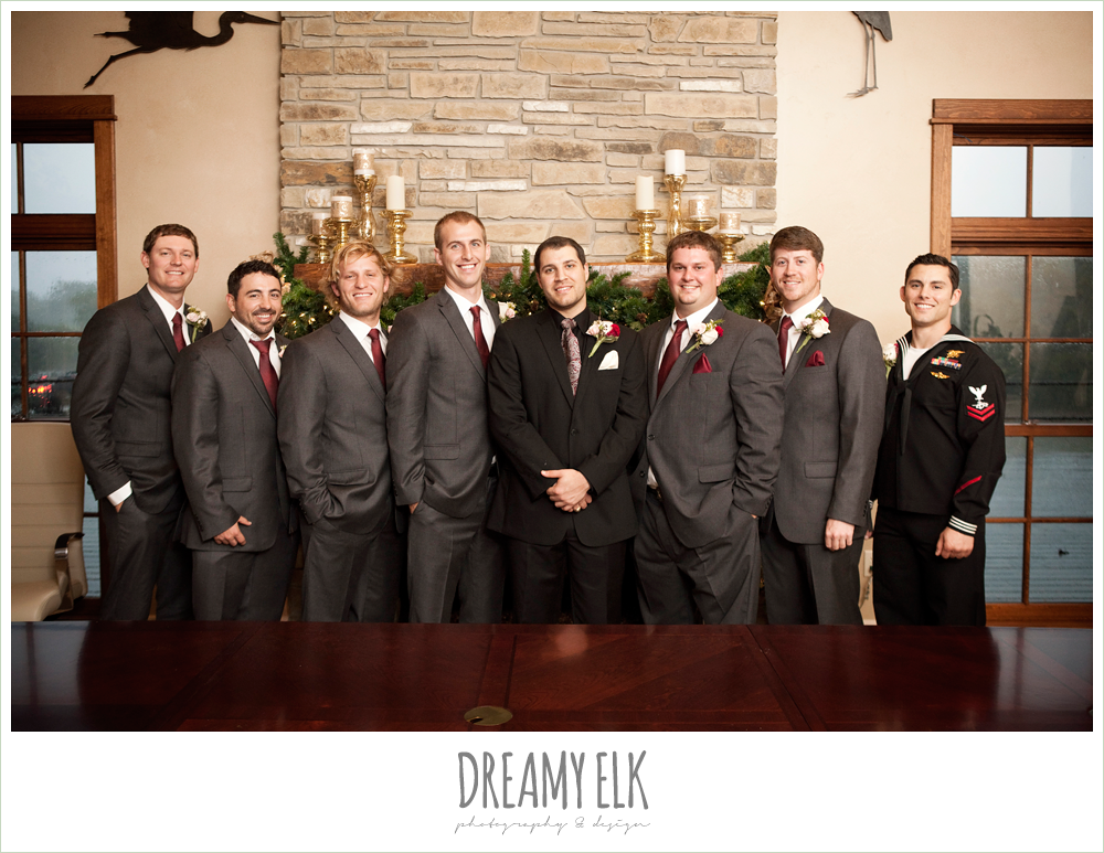 groom and groomsmen, rainy fall wedding, rock lake ranch, dreamy elk photography and design