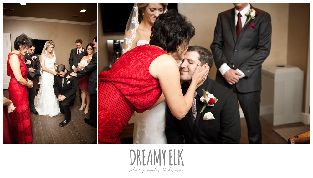 family blessing the bride and groom, fall wedding, rock lake ranch, dreamy elk photography and design