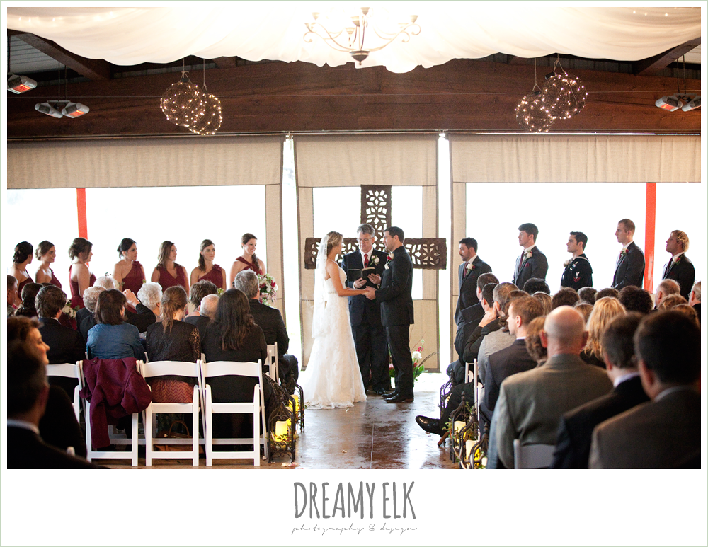 tent wedding ceremony, rainy fall wedding, rock lake ranch, dreamy elk photography and design
