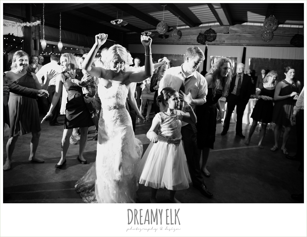 guests dancing at wedding reception, fall wedding, rock lake ranch, dreamy elk photography and design