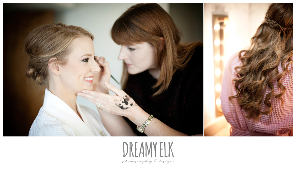 bride getting makeup done, winter wedding, austin wedding photographer, dreamy elk photography and design