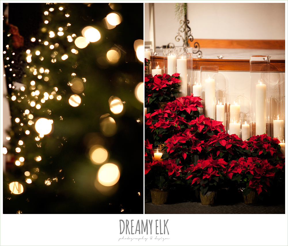 christmas decorations, winter wedding, austin wedding photographer, dreamy elk photography and design