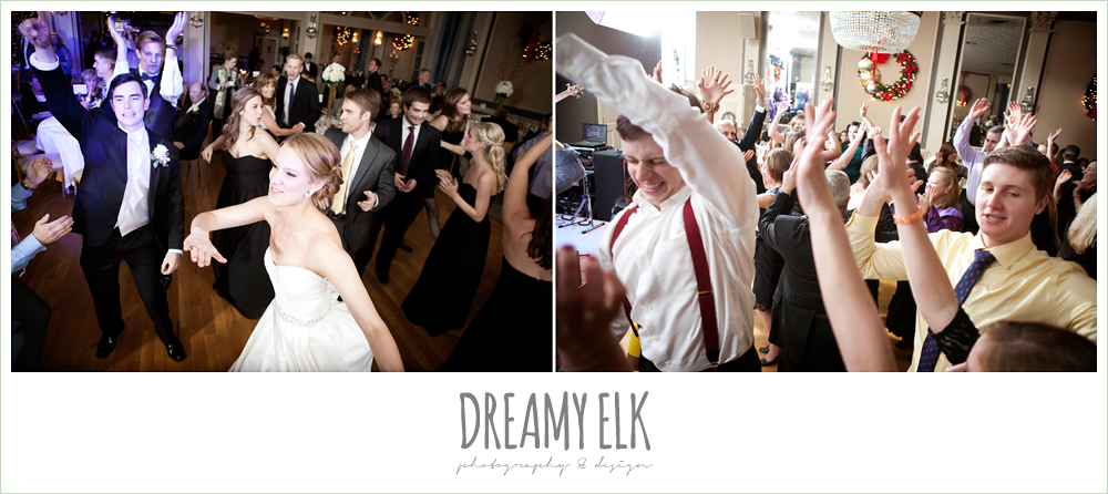 guests dancing at wedding reception, winter wedding, austin wedding photographer, dreamy elk photography and design
