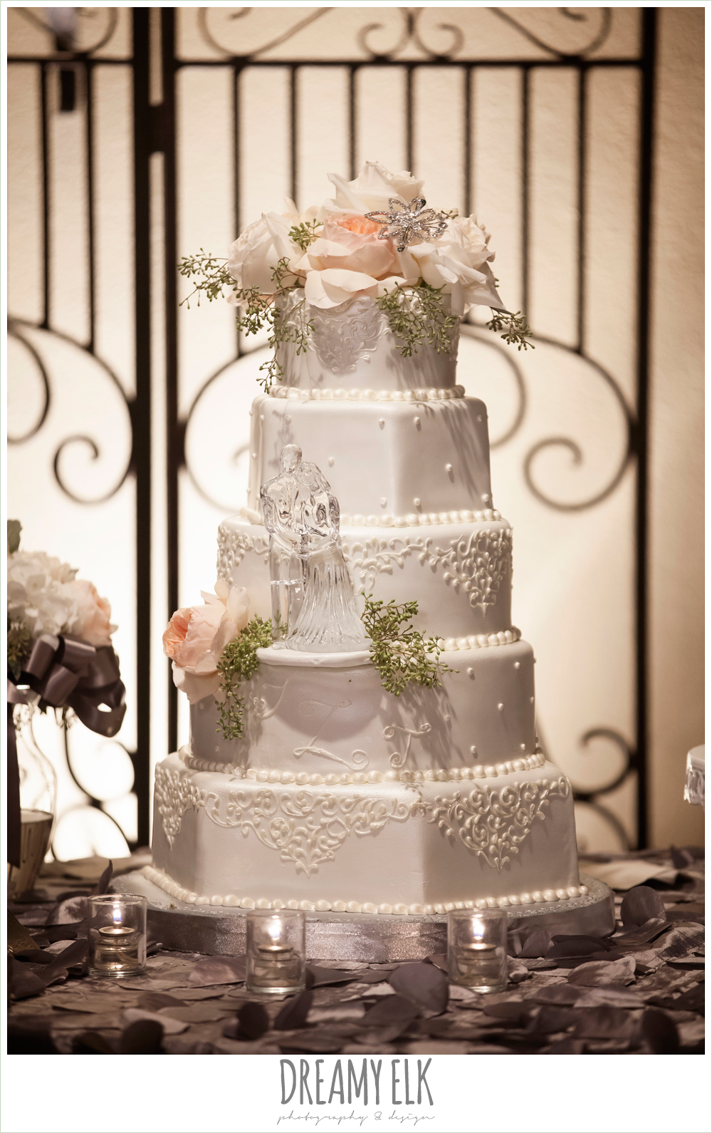 five tier wedding cake, briscoe manor, houston winter wedding photo {dreamy elk photography and design}