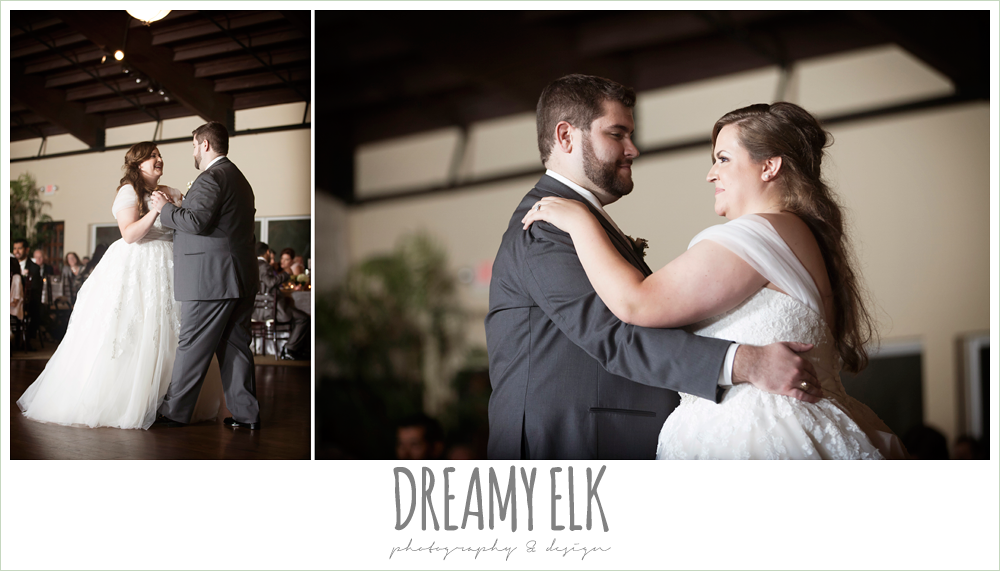bride and groom first dance, briscoe manor, houston winter wedding photo {dreamy elk photography and design}