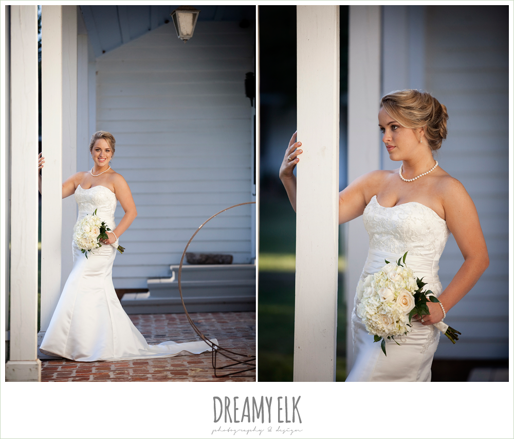 liendo plantation, trumpet satin wedding dress, white wedding bouquet {dreamy elk photography and design}