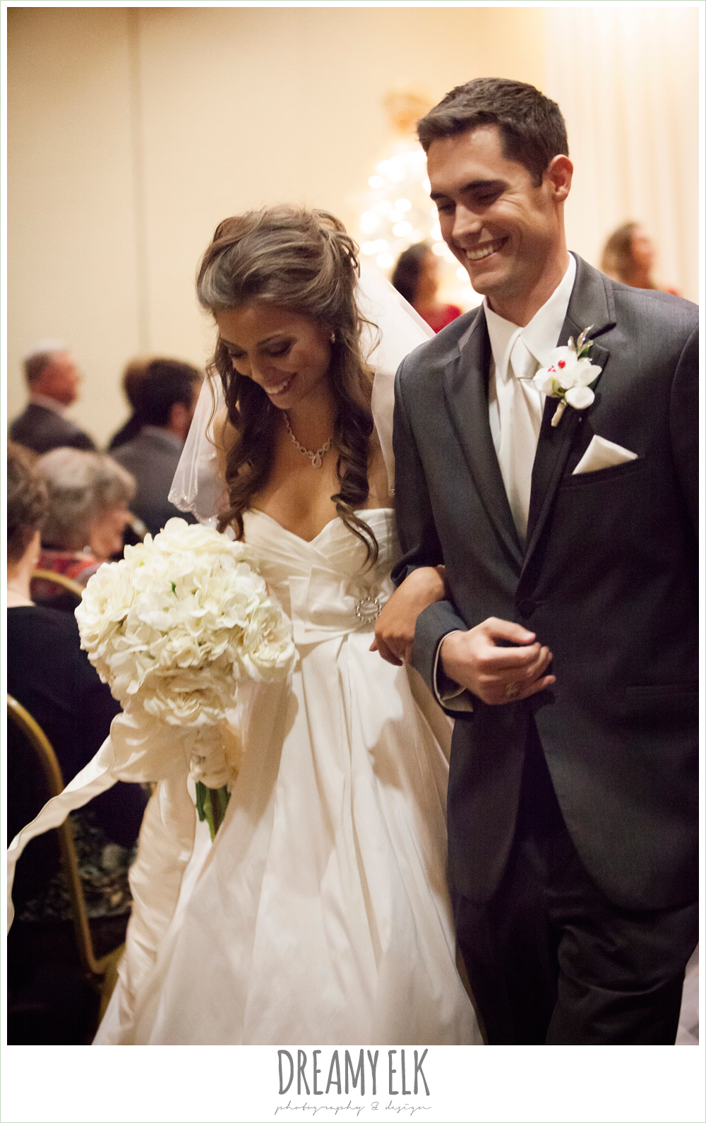 bride and groom during ceremony, christmas wedding {dreamy elk photography and design} photo