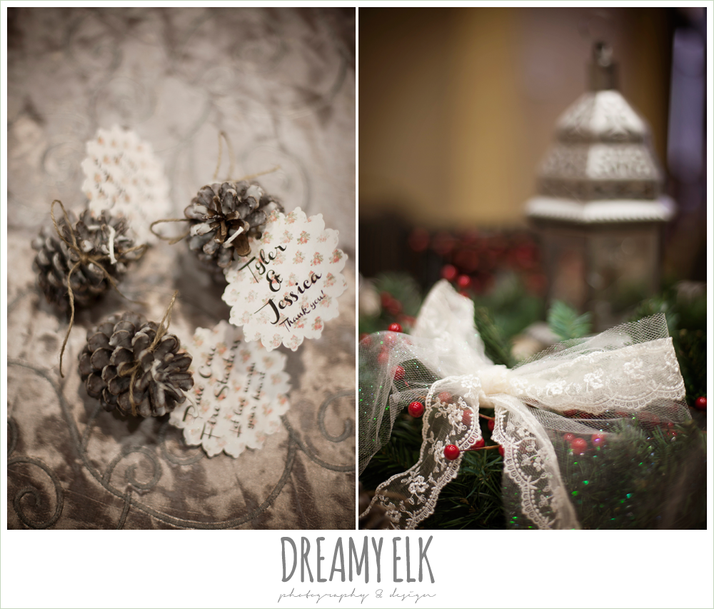 christmas wedding decorations {dreamy elk photography and design} photo