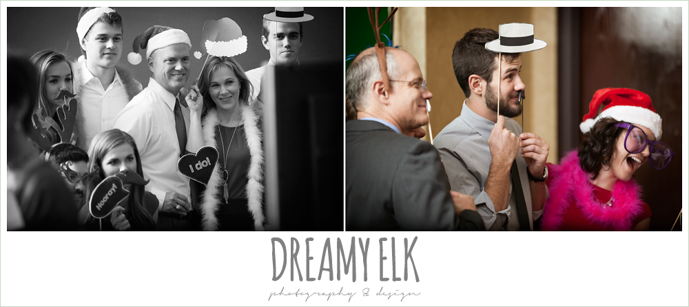 guests at wedding reception, christmas wedding {dreamy elk photography and design} photo