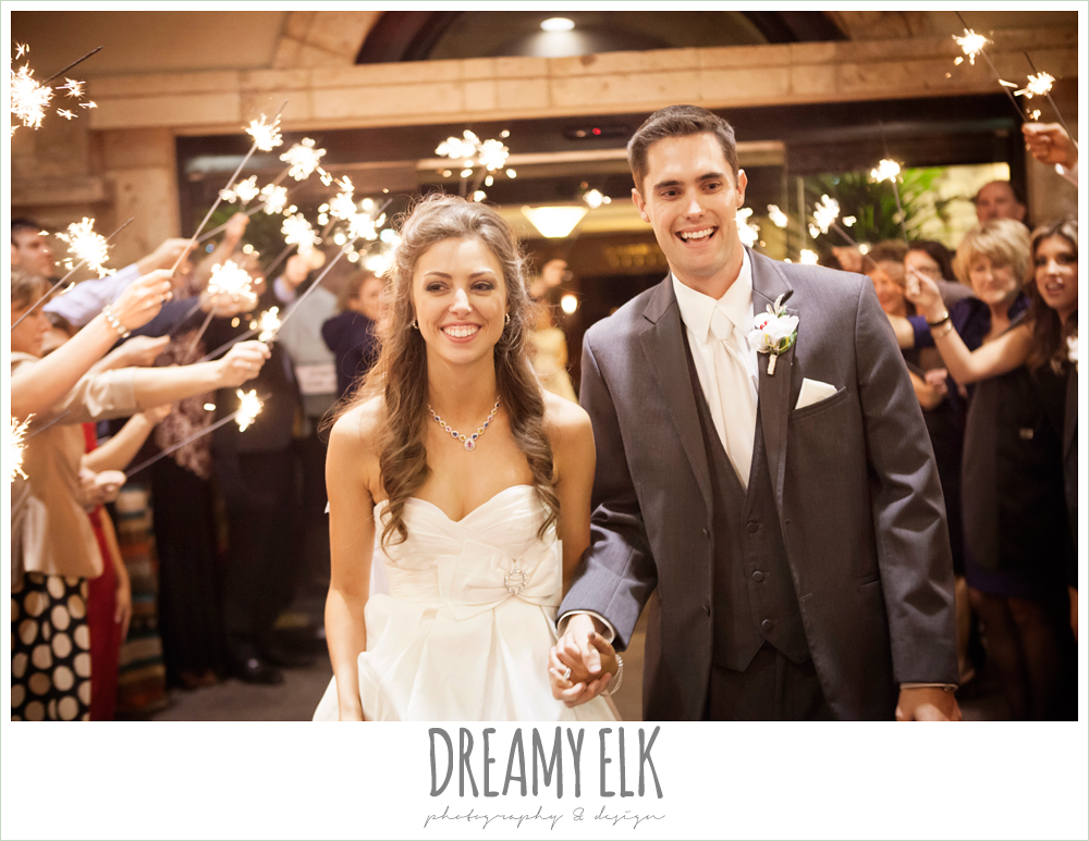 sparkler exit, christmas wedding {dreamy elk photography and design} photo