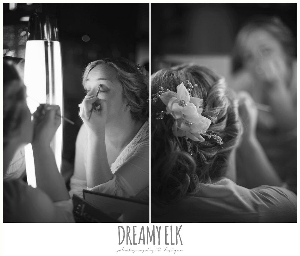bride putting on makeup {dreamy elk photography and design}