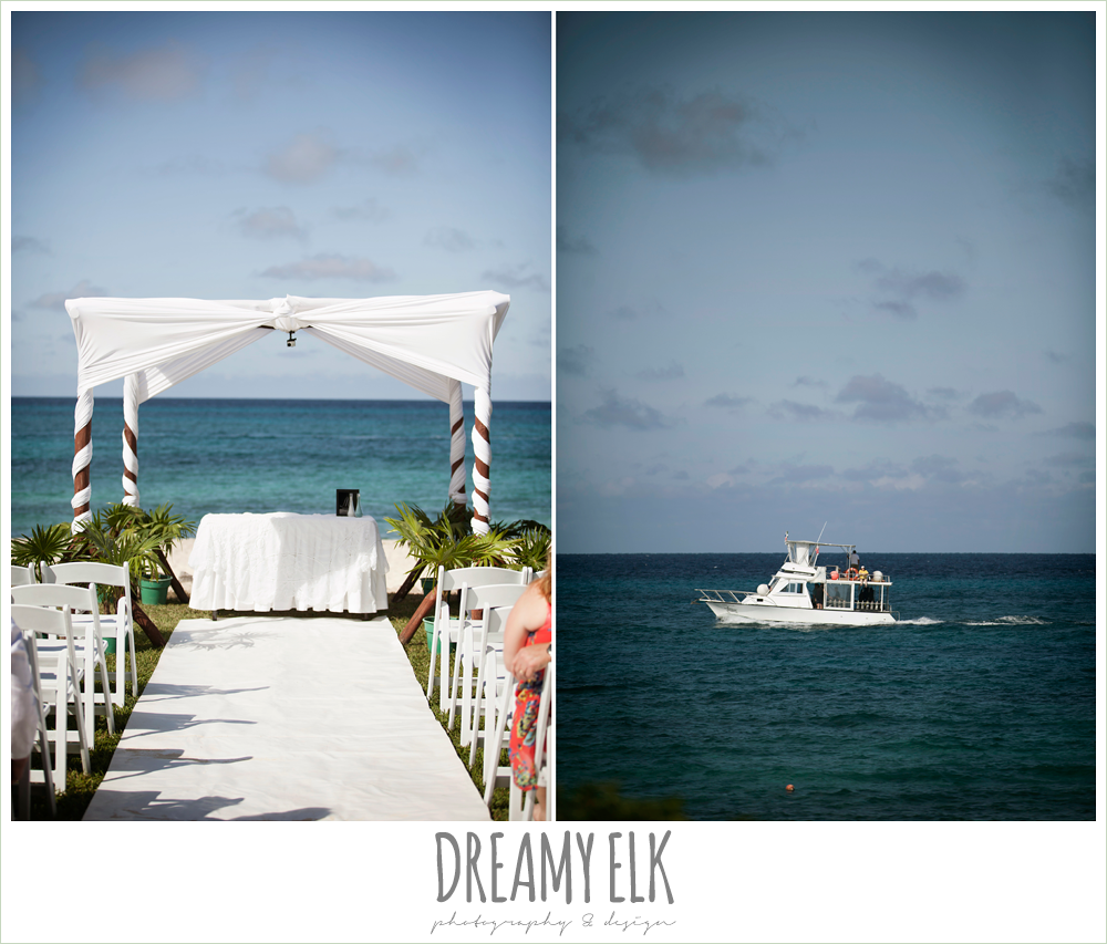 white wedding canopy, outdoor destination wedding, cozumel {dreamy elk photography and design} photo