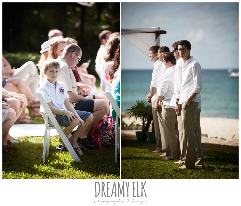 groomsmen in white shirts and khakis, outdoor destination wedding, cozumel {dreamy elk photography and design} photo