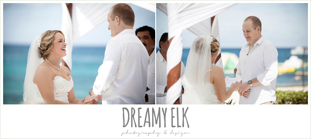 bride and groom saying vows, outdoor destination wedding, cozumel {dreamy elk photography and design} photo