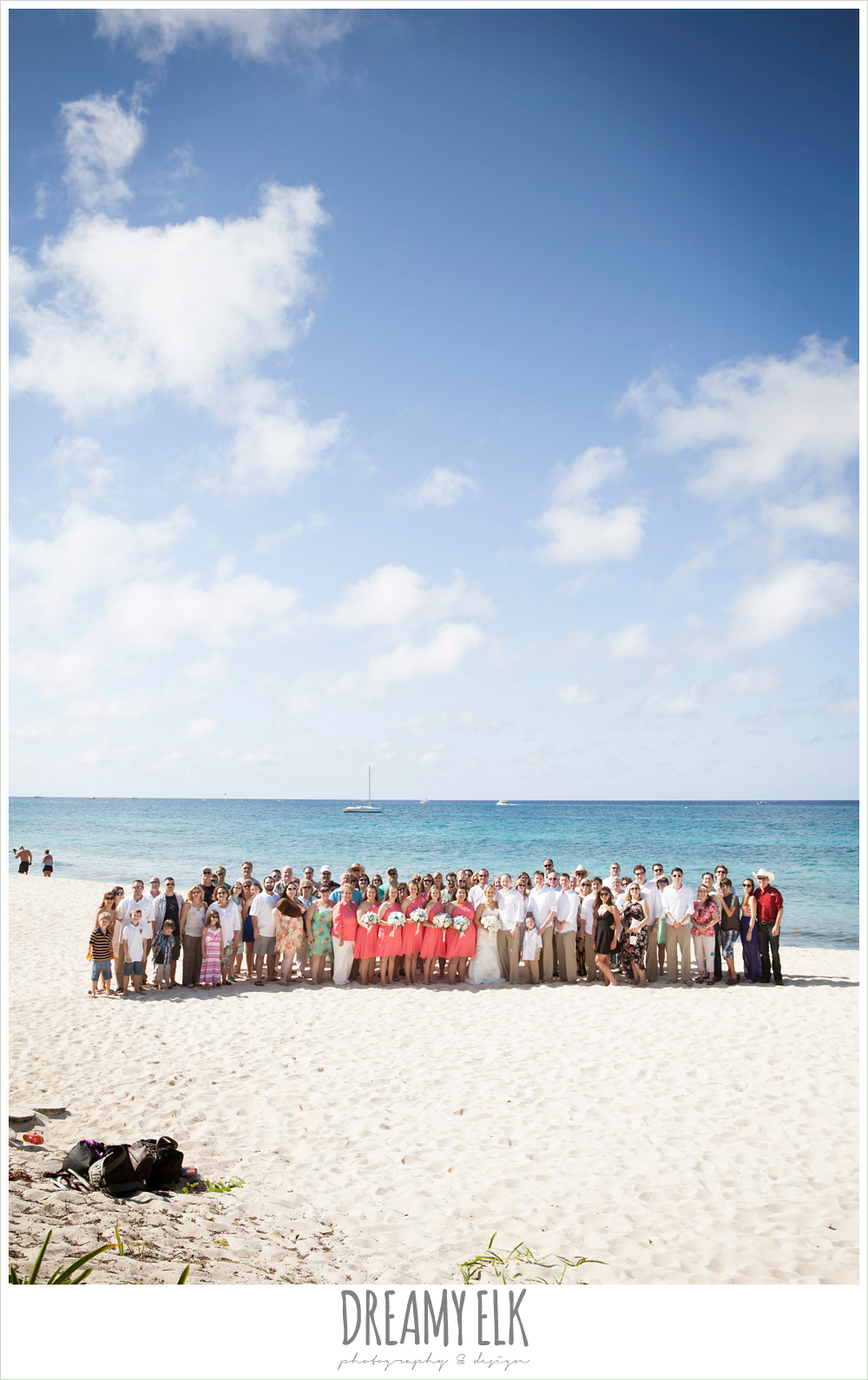 wedding photo with all of the guests, outdoor destination wedding, cozumel {dreamy elk photography and design} photo
