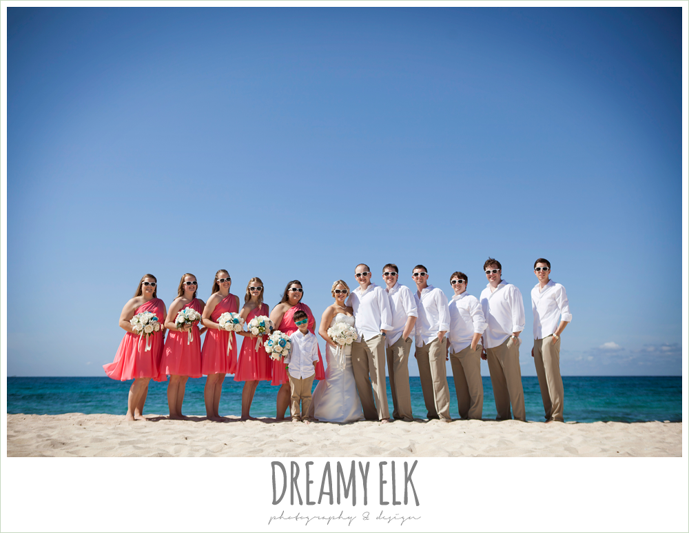 bridal party on the beach, destination wedding, cozumel {dreamy elk photography and design} photo