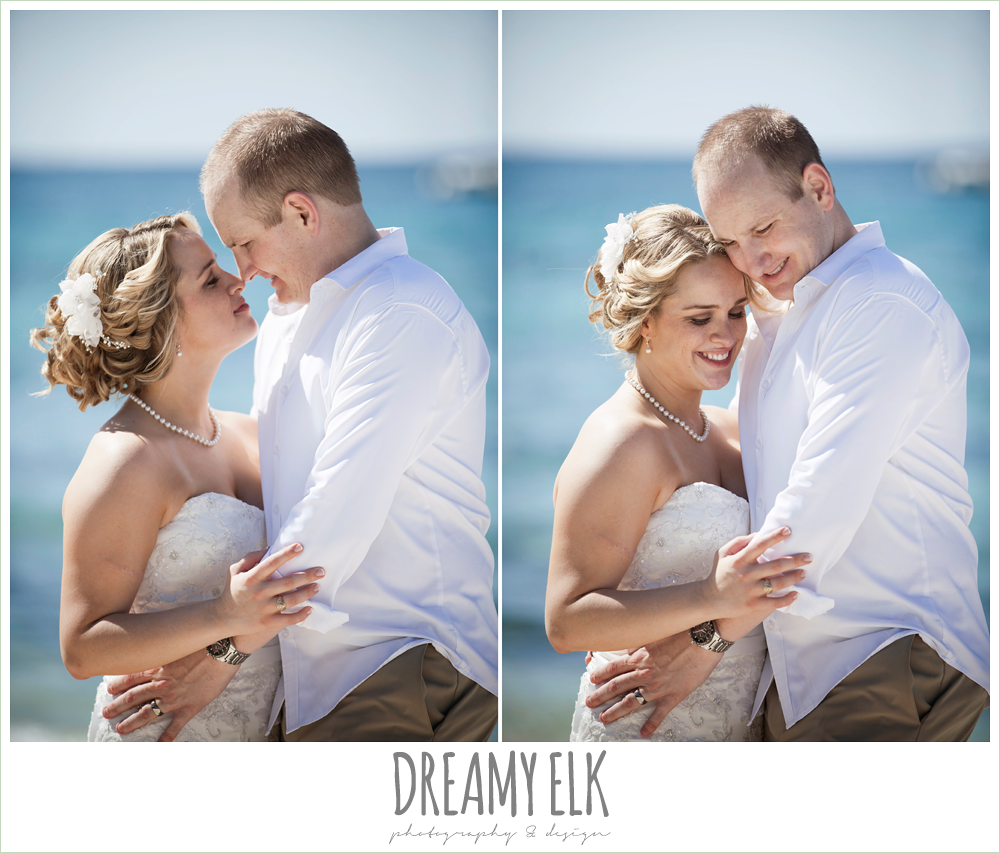 bride and groom, beach wedding hair, destination wedding, cozumel {dreamy elk photography and design} photo