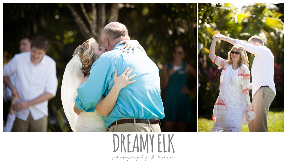 bride dancing with dad, groom dancing with mom, destination wedding, cozumel {dreamy elk photography and design} photo