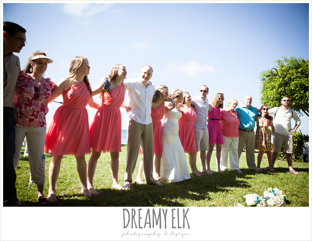 aggie war hymn at wedding reception, destination wedding, cozumel {dreamy elk photography and design} photo