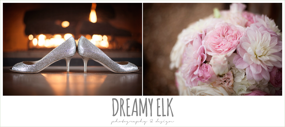 jimmy choo wedding shoes, blush wedding bouquet by exquisite petals {dreamy elk photography and design}