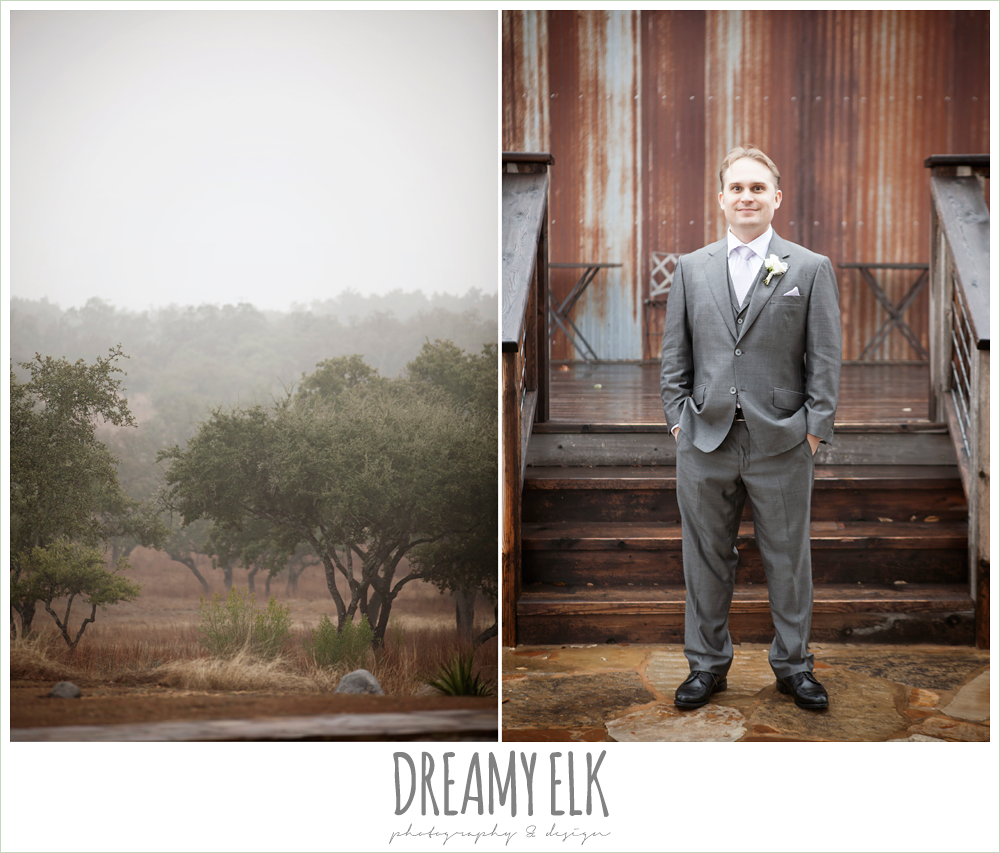 foggy wedding day, groom in gray {dreamy elk photography and design}