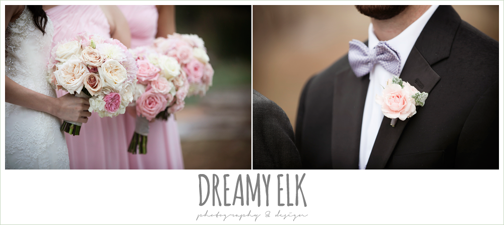 blush pink and purple wedding bouquet, foggy wedding day {dreamy elk photography and design}