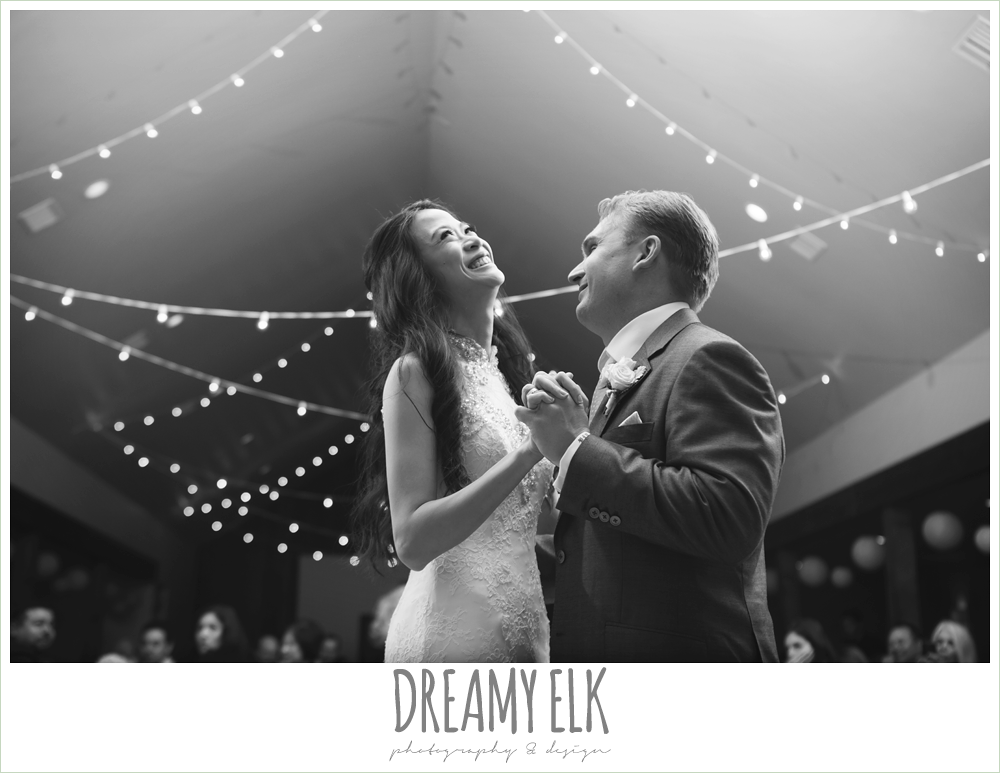 bride and groom first dance, rustic chic wedding {dreamy elk photography and design}