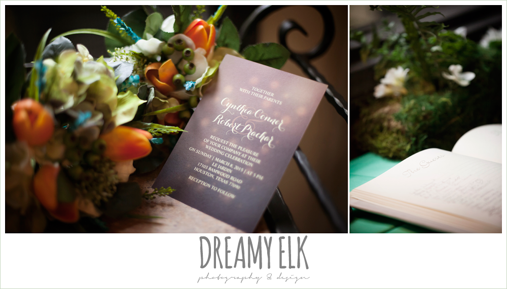 wedding invitation, guest book, le jardin winter wedding {dreamy elk photography and design}