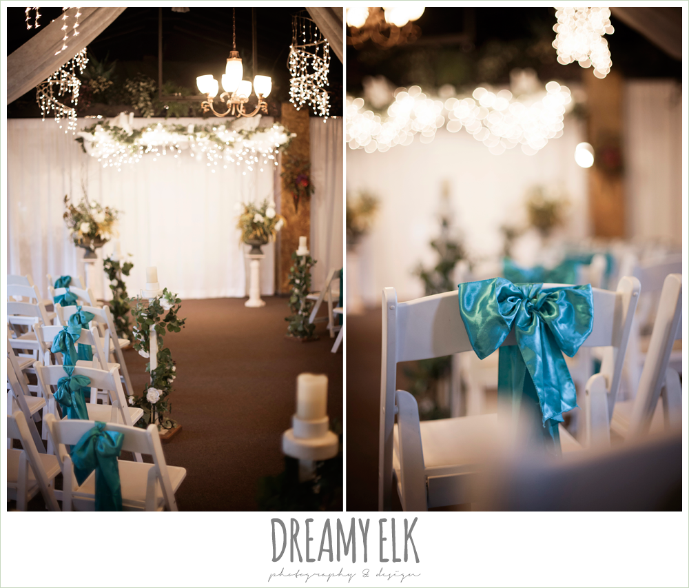 indoor wedding ceremony decorations, le jardin winter wedding {dreamy elk photography and design}