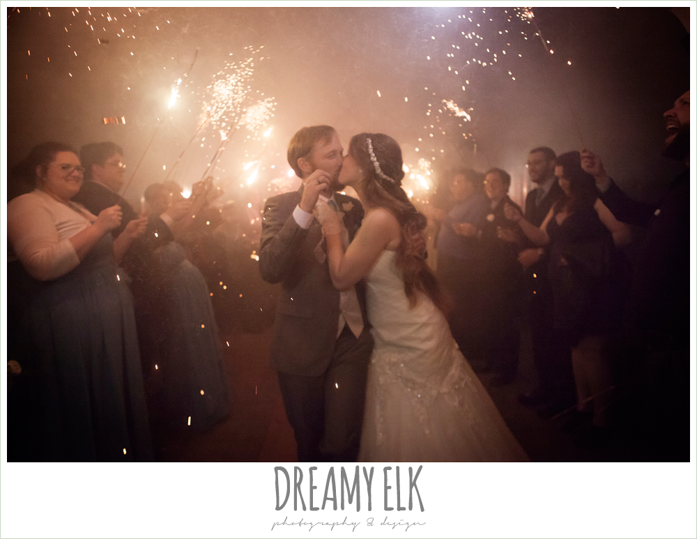 sparkler wedding send off, le jardin winter wedding {dreamy elk photography and design}