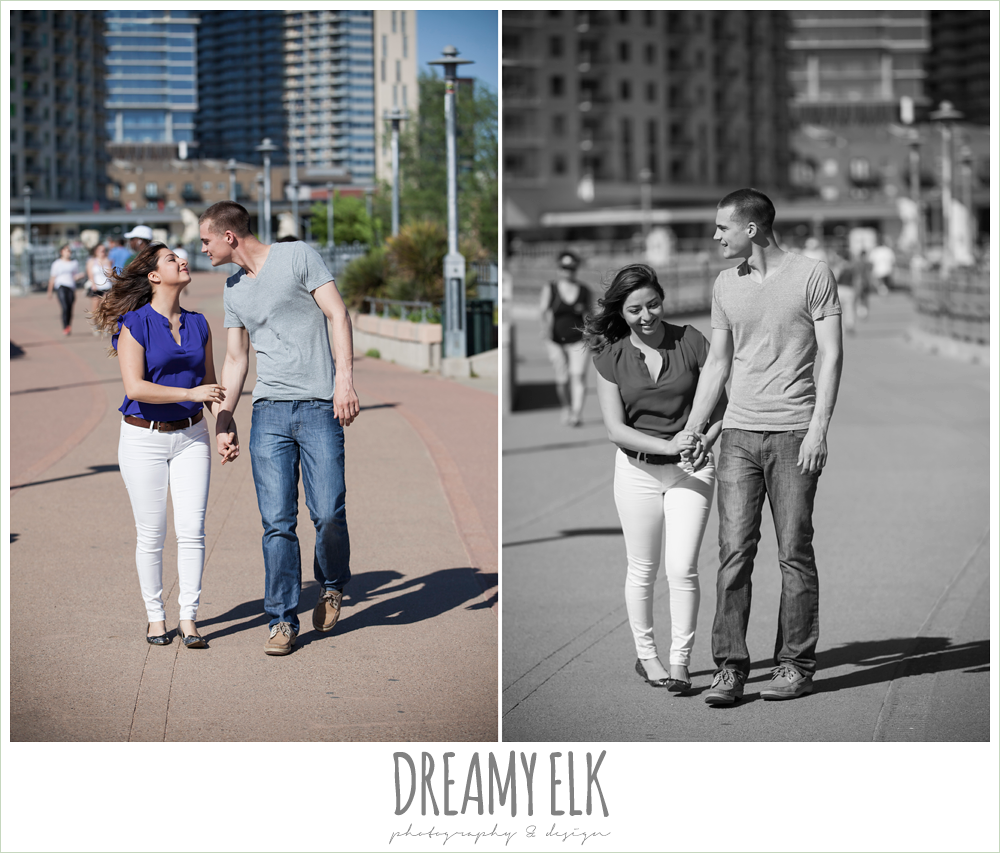 pedestrian bridge, downtown austin engagement photo {dreamy elk photography and design}