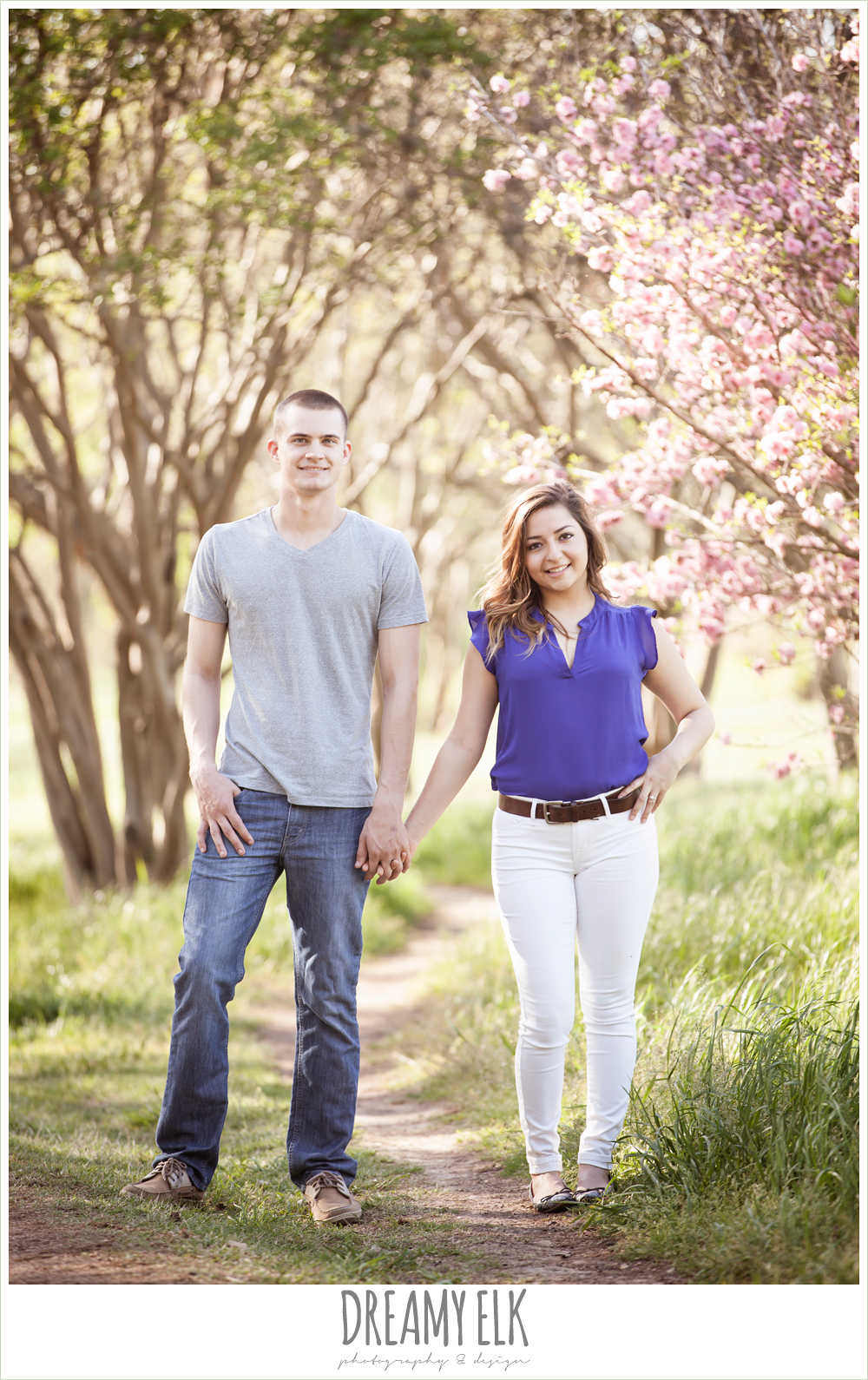 auditorium shores, downtown austin spring engagement photo {dreamy elk photography and design}