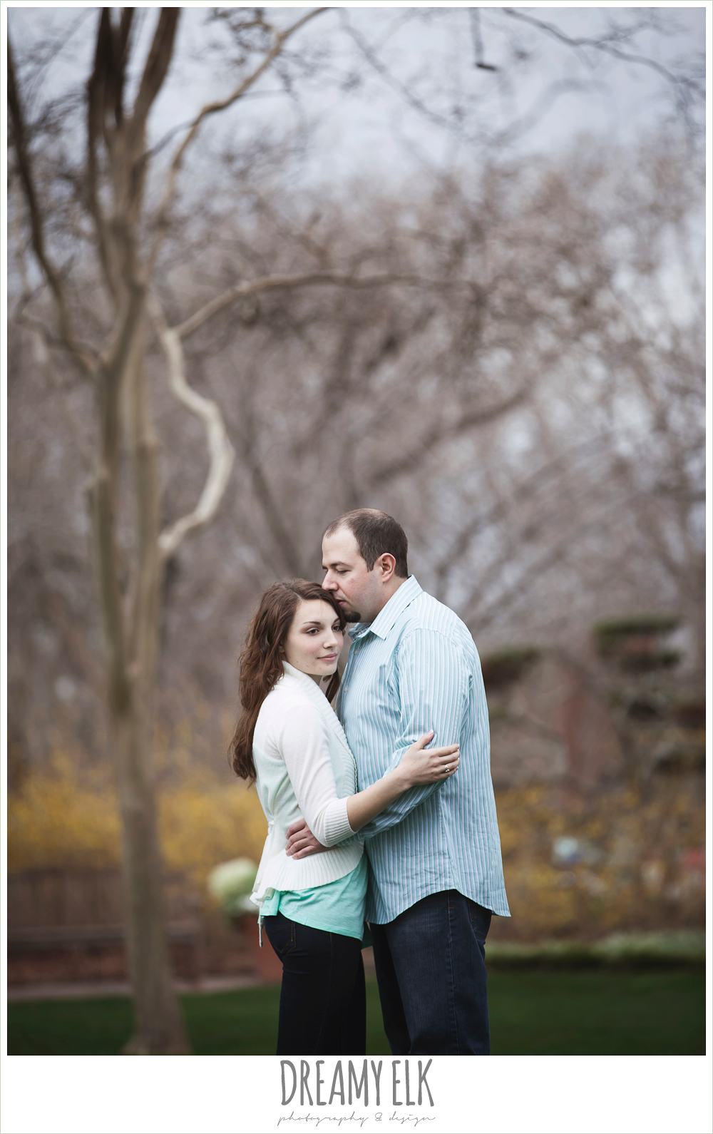 overcast engagement photo, dallas arboretum and botanical garden {dreamy elk photography and design}