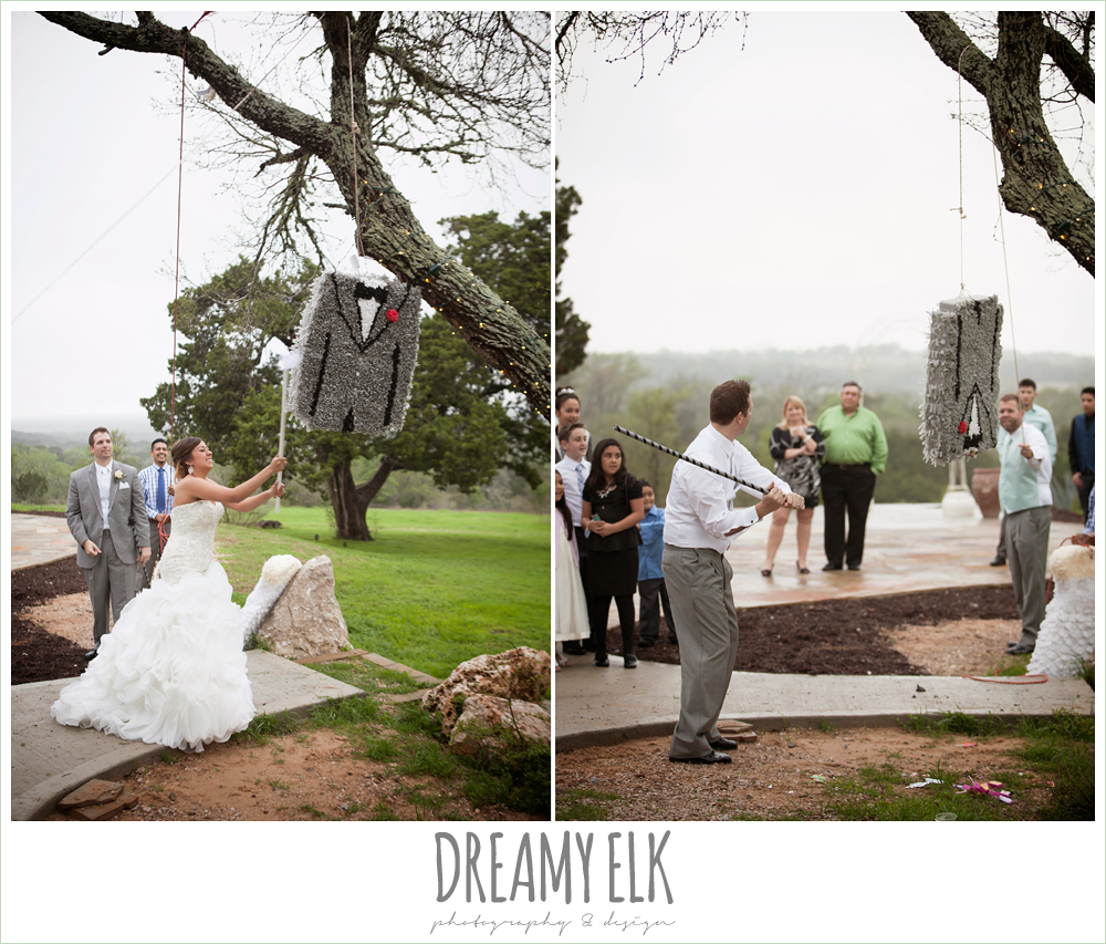 pinatas at wedding reception, austin spring wedding {dreamy elk photography and design}