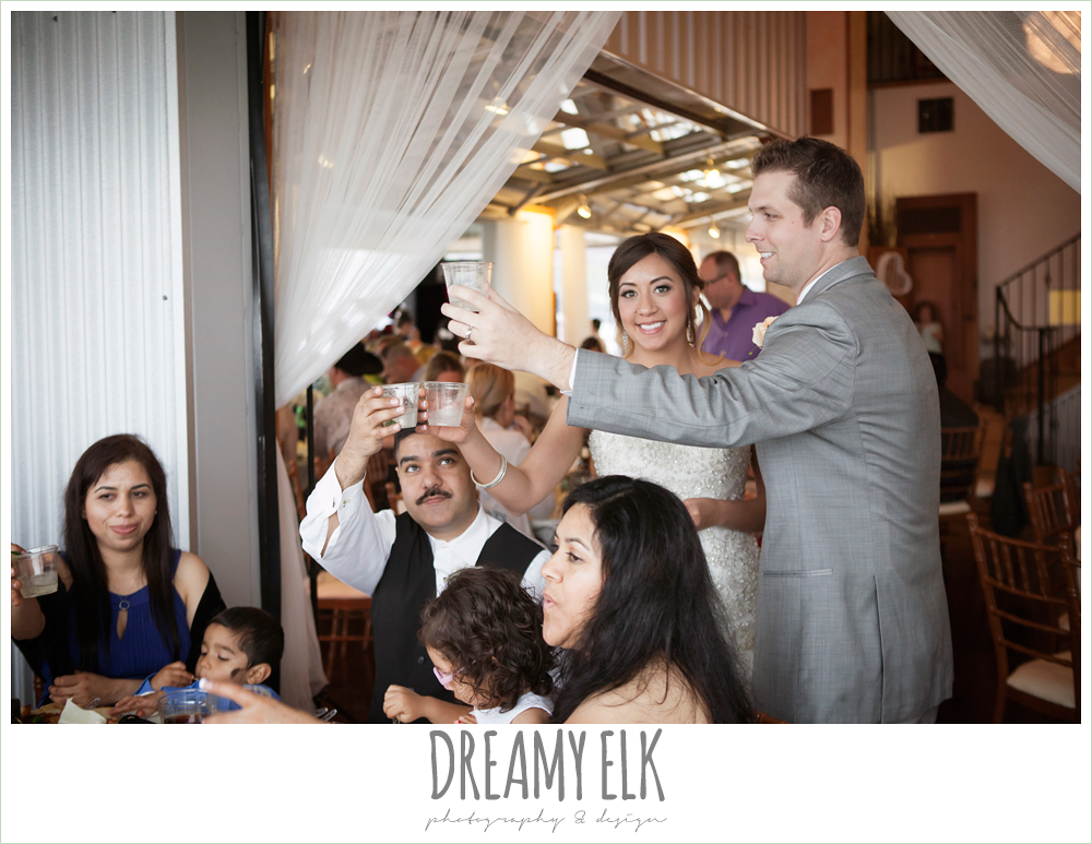 toasting at wedding reception, austin spring wedding {dreamy elk photography and design}