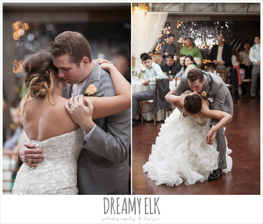 bride and groom's first dance, beaded ruffle skirt wedding dress, terradorna wedding venue, austin spring wedding {dreamy elk photography and design}