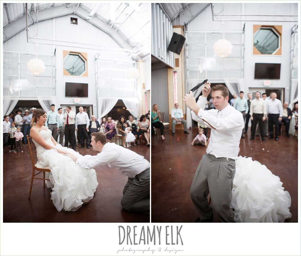 garter toss, terradorna wedding venue, austin spring wedding {dreamy elk photography and design}