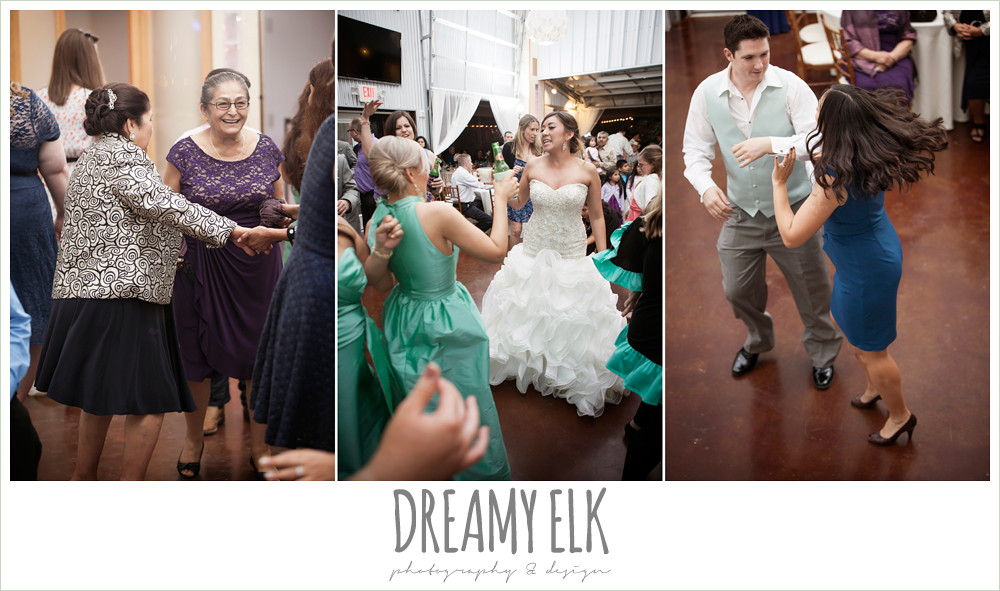 guests dancing at reception, terradorna wedding venue, austin spring wedding {dreamy elk photography and design}