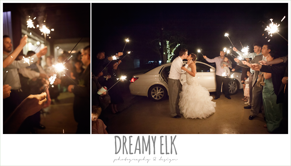 night wedding send off with sparklers, terradorna wedding venue, austin spring wedding {dreamy elk photography and design}
