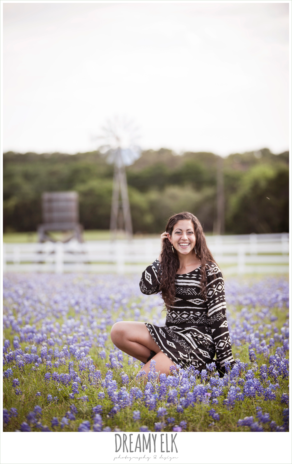 outdoor high school senior photo, texas bluebonnets, austin, texas {dreamy elk photography and design}