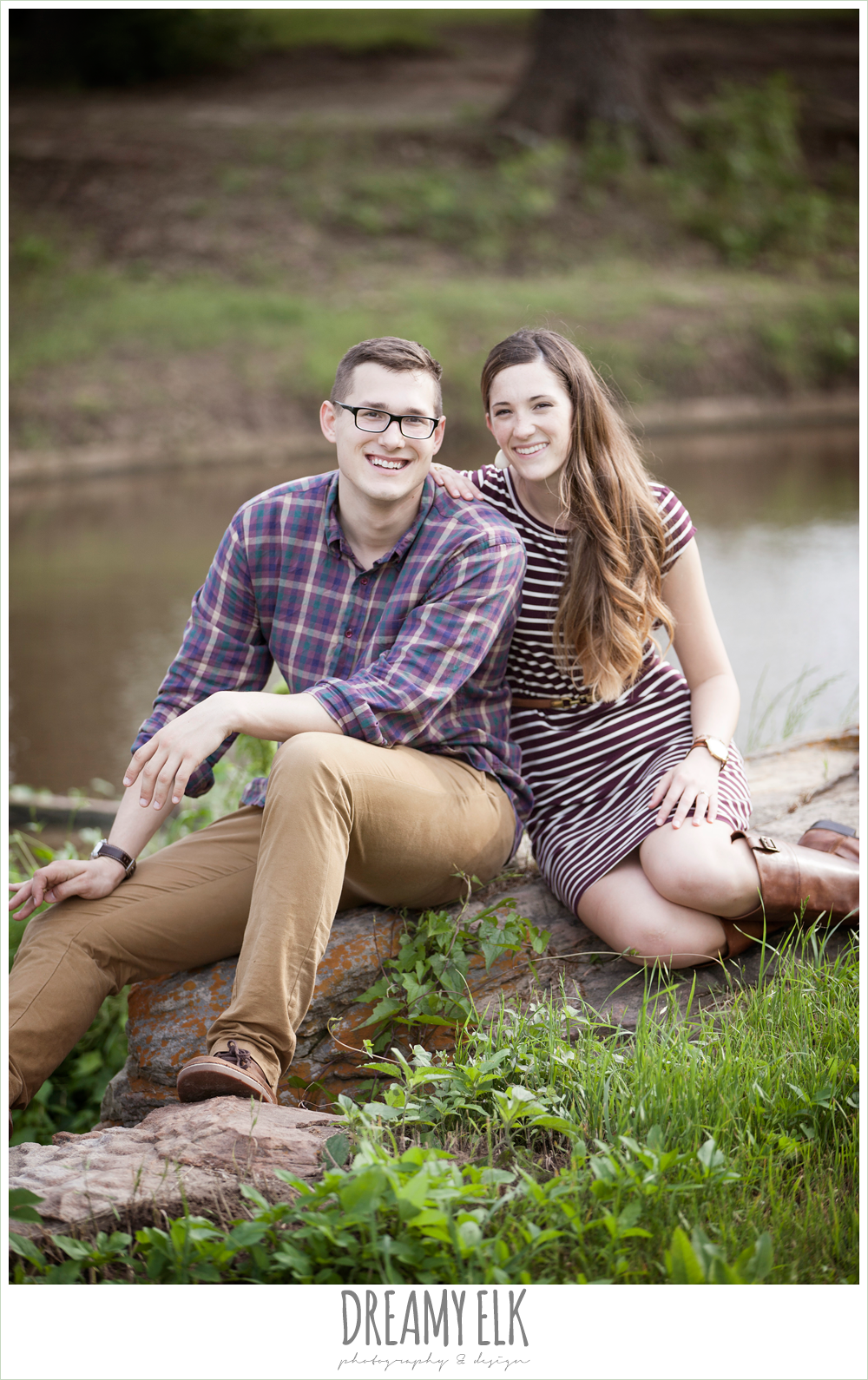 woodsy engagement photo, research park, college station, texas {dreamy elk photography and design}