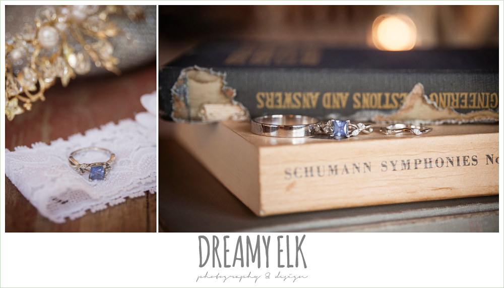 sapphire engagement ring, wedding rings, music themed wedding decorations, la hacienda, dripping springs, texas {dreamy elk photography and design} photo