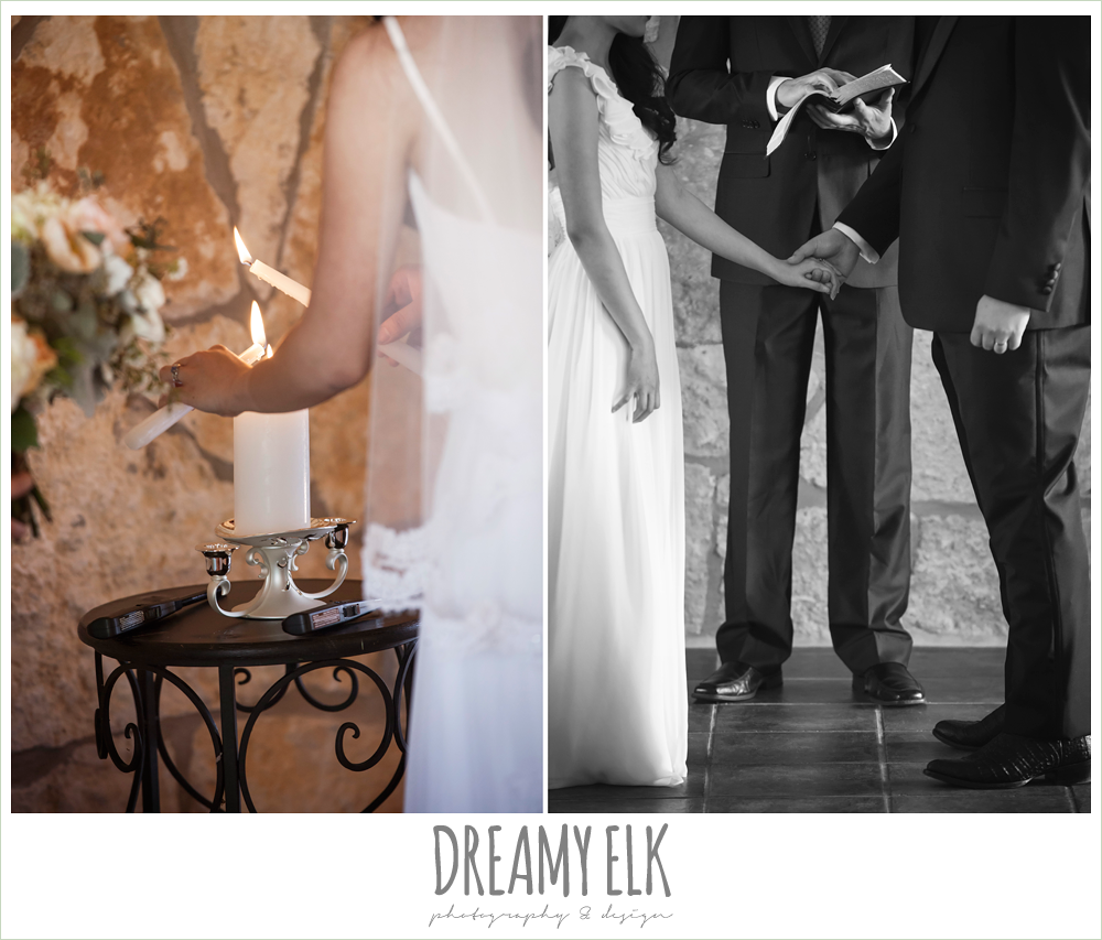 lighting the unity candle, wedding ceremony, la hacienda, dripping springs, texas {dreamy elk photography and design} photo