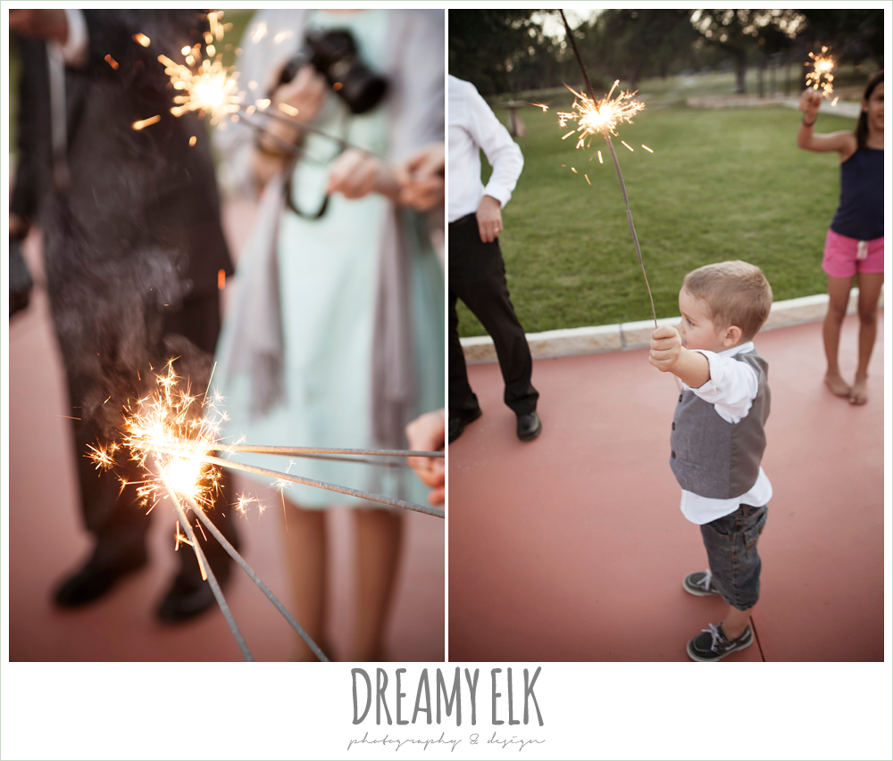 wedding send off with sparklers, la hacienda, dripping springs, texas {dreamy elk photography and design} photo
